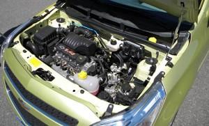 Motor del Chevrolet Agile.