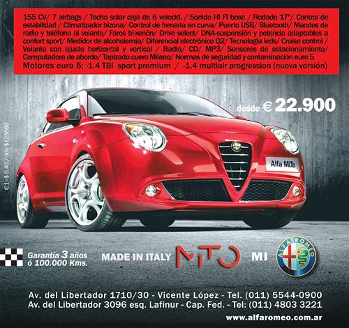 Aviso del Alfa Romeo MiTo precio 2010