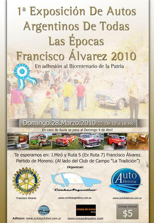 Primera Exposición de Vehículos de Fabricación Nacional de todas las épocas