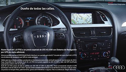 Promo Audi A4 GPS