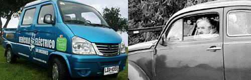 Pepe Mujica al volante. De su Fusca rojo al FAW eléctrico.