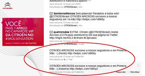 Citroën Brasil decidió revelar el C3 AirCross en Twitter