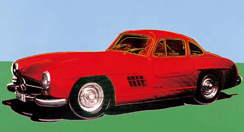 El Mercedes 300 SL Coupé según Andy Warhol.