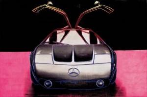 El prototipo Mercedes-Benz C111 según Andy Warhol.