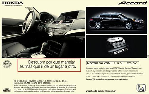 Aviso Accord publicado el 29/5/2010 en La Nación.