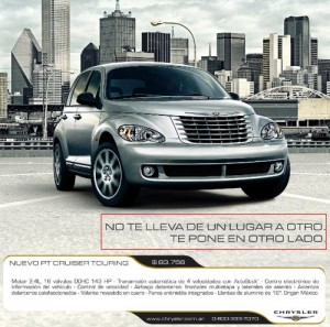 Aviso PT Cruiser publicado el 29/5/2010 en La Nación.