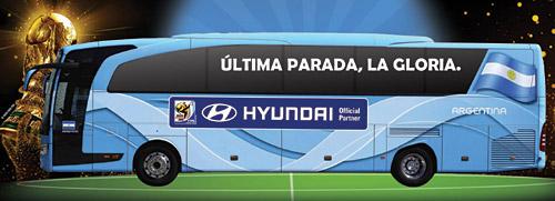 La frase elegida en el concurso organizado por Hyundai para el Mundial 2010.