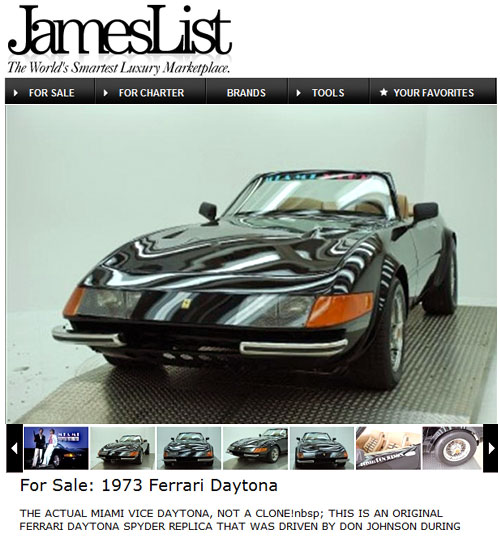 La Ferrari Daytona de Miami Vice en James List