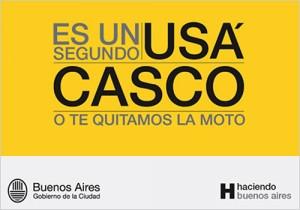 Usá Casco - Afiche de la campaña del gobierno porteño 2009.