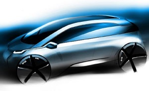 El único sketch oficial que se conoce por el momento del BMW Megacity