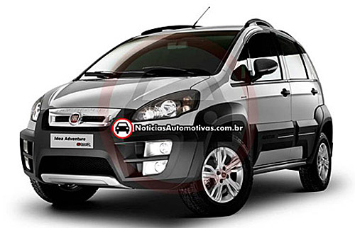 Car cor car cur cuk fiat idea adventure 2011 for Paragolpe delantero fiat idea adventure
