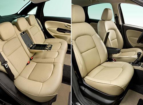 Fiat Linea con interior tapizado en cuero beige