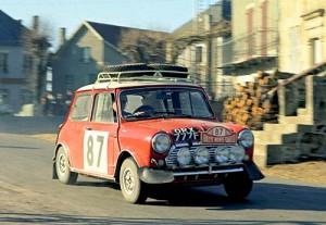 Mini en el Rally de Montecarlo 1964