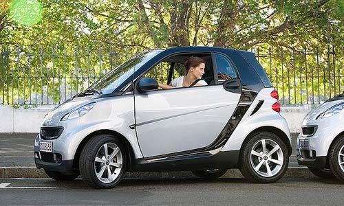 El smart es muy práctico para estacionar.