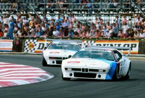 El BMW M1 en manos de Carlos Reutemann.
