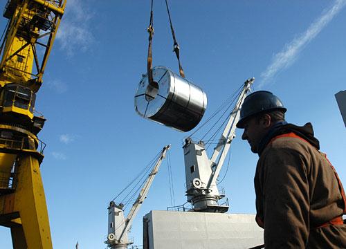 Distribución de acero en la planta de San Nicolás de Siderar.