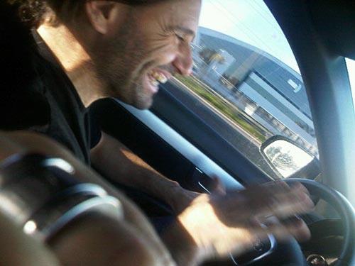 Marcos Di Palma al volante del Audi A4. Foto: Twitpic de Matías Alé.