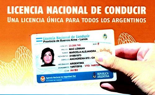 La nueva Licencia Nacional de Conducir