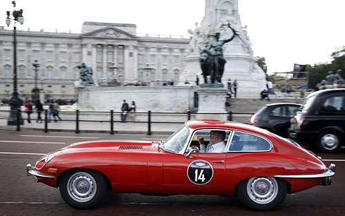 Caravana de los 75 años de Jaguar