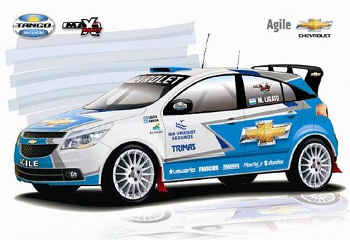 Chevrolet Agile de Maxi Rally - Imagen: Tango Rally Team