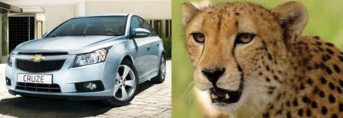 El Cruze está inspirado en un cheetah, según su diseñador.