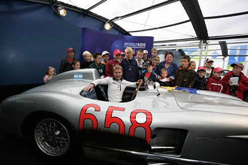 En Nurburgring 2006, Hakkinen sobre uno de los autos que usó Fangio.