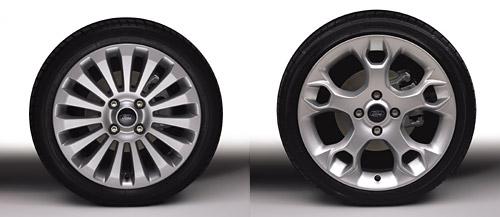 Llantas de 16 y 17 pulgadas del Ford Fiesta Kinetic Design