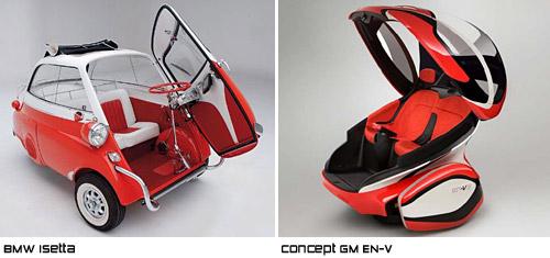 El BMW Isetta y el Concept car GM EN-V - Comparación de Cosas de Autos Blog