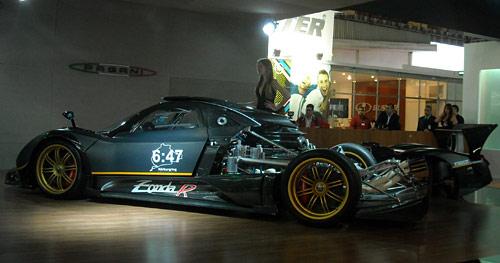 El Pagani Zonda R en el Salón de San Pablo 2010. Foto: Cosas de Autos BlogEl Pagani Zonda R en el Salón de San Pablo 2010. Foto: Cosas de Autos Blog