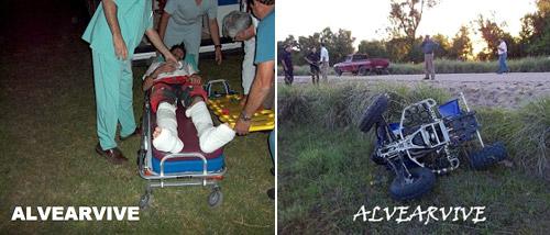 Marcos Patronelli se accidentó entrenando - Foto: Alvear Vive