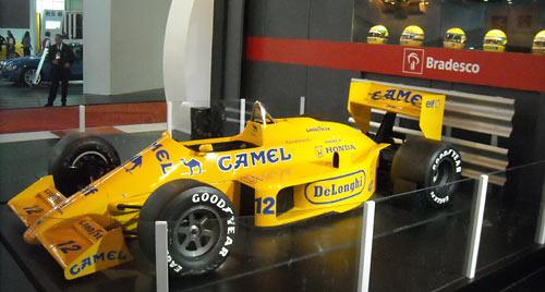 Lotus-Honda de Senna en el Salón de San Pablo.