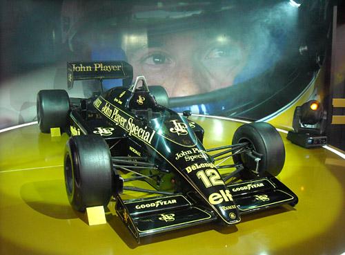 El Lotus-Renault de Senna en el Salón de San Pablo.