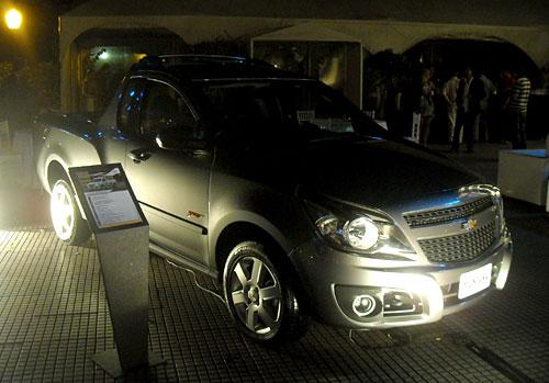 Chevrolet Montana en el brindis de fin de año de GM Argentina.