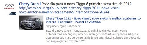 Fan page de Chery Brasil