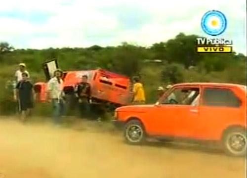 Robby Gordon en un despiste en la segunda etapa del Dakar Argentina-Chile 2011
