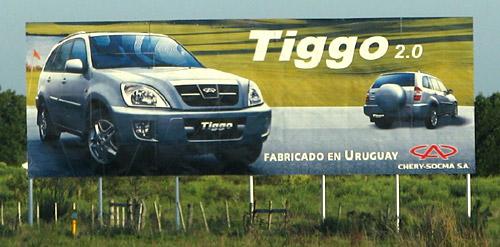 Publicidad de Chery en Uruguay