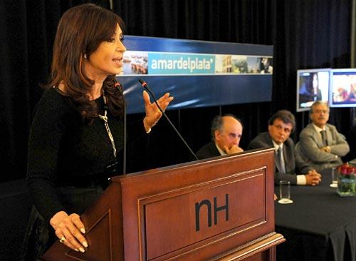 Cristina Fernández en Mar del Plata