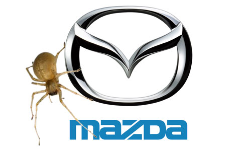 Recall de Mazda a causa de una araña - Fotomontaje: Cosas de Autos