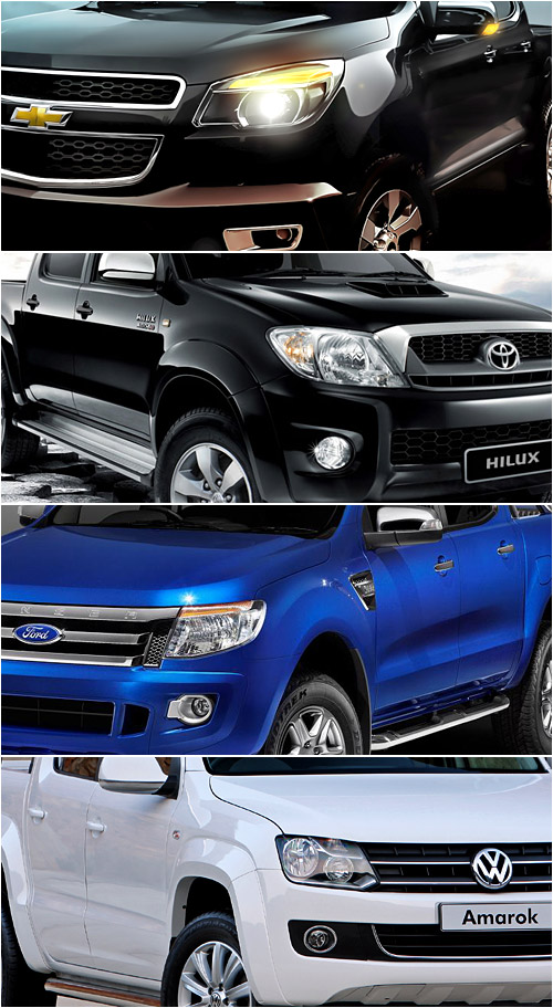 Chevrolet Colorado, Toyota Hilux, Ford Ranger y Volkswagen Amarok.