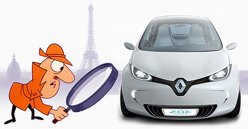 Inspector Clouseau y Renault Zoe - Fotomontaje: Cosas de Autos