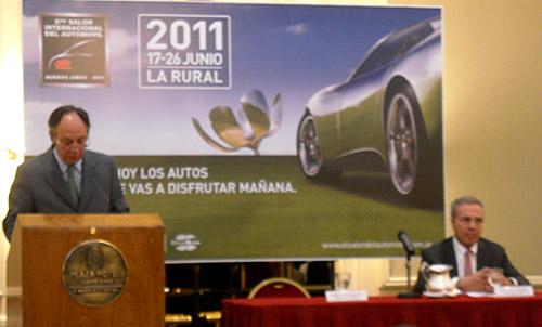 Borderes y Hense en la conferencia de lanzamiento del Salón 2011