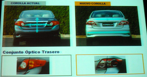 Los cambios en el Toyota Corolla 2012