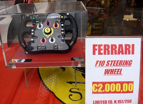 Una ganga: un volante de Ferrari F1 a 2 millones de euros.