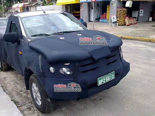 Ford Ranger 2012 fotografiada en Brasil - Noticias Automotivas