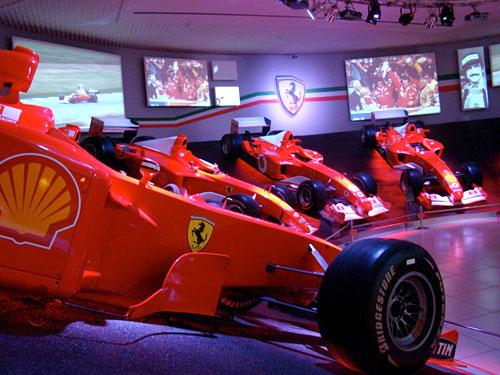Sector F-1 en el Museo Ferrari.