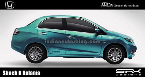 Honda Brio sedán - especulación gráfica de Shoeb R Kalania (Indian Autos Blog)