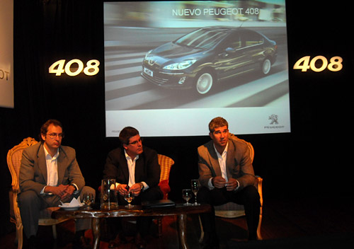 Federico Rocca, Pablo Averame y Gabriel Cordo Miranda en la conferencia de prensa del 408.