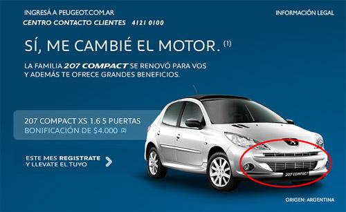 Se vienen sutiles cambios para el Peugeot 207 Compact