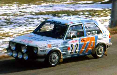 Kenneth Eriksson en 1986 con VW Golf