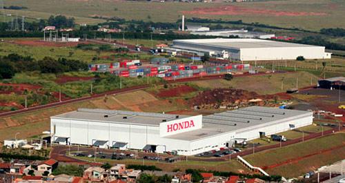 Vista aérea de la planta de Honda en Sumaré.